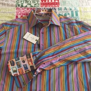NWT Robert Grahan Long sleeve shirt